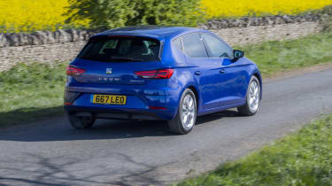 SEAT Leon driving - rear view