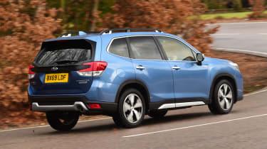 Subaru Forester cornering - rear view