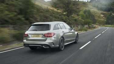 Mercedes C-Class Estate rear 3/4 tracking