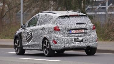2021 Ford Fiesta prototype - rear