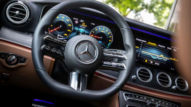 Mercedes E-Class E 300 e hybrid - steering wheel