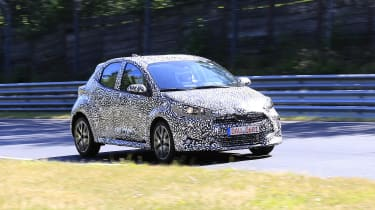 Toyota Yaris spotted in testing