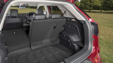 Ssangyong Korando boot with one seat down