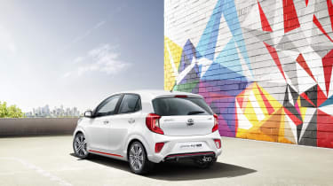 Kia is aiming the PIcanto at young buyers, with plenty of personalisation options & a range of 'bold' paint colours