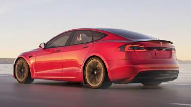 Tesla Model S Plaid - rear 3/4