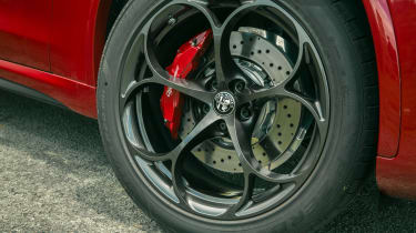 Alfa Romeo Stelvio Quadrifoglio SUV - front alloy wheel close up