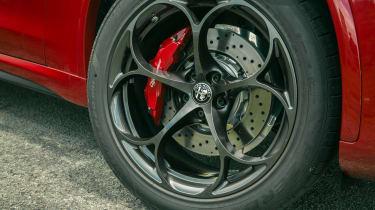 Alfa Romeo Stelvio Quadrifoglio SUV - front alloy wheel close up