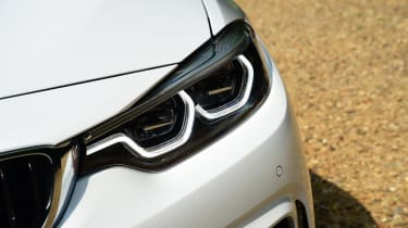 The easiest way to spot the facelifted 4 Series Convertible is by its new LED twin headlights