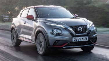 Nissan Juke SUV front 3/4 tracking