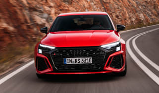 Audi RS 3 driving - front view