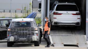 BMW X8 SUV prototype next to X7