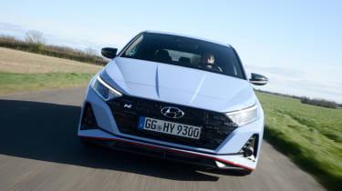 Hyundai i20 N hatchback front tracking
