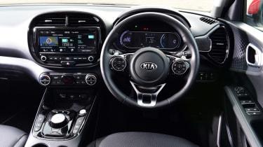 Kia Soul EV hatchback interior