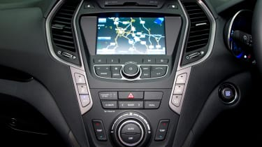 A touchscreen sat-nav system and reversing camera are fitted as standard