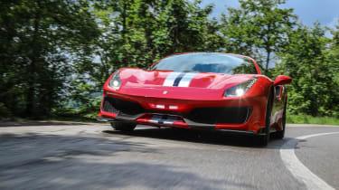 Ferrari 488 Pista front road