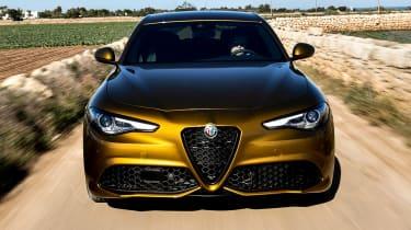 Alfa Romeo Giulia saloon front tracking