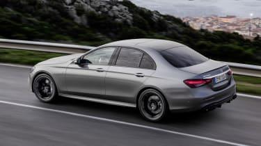 Mercedes-AMG E53 driving - rear view