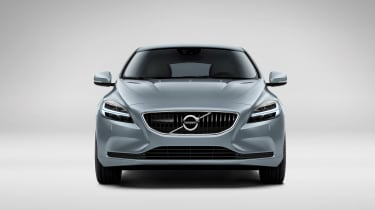 The latest Volvo corporate identity has been neatly applied to the V40