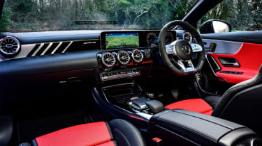 Mercedes-AMG CLA 45 saloon dashboard