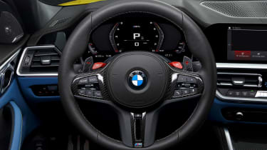2021 BMW M4 Competition Coupe - dashboard and steering wheel