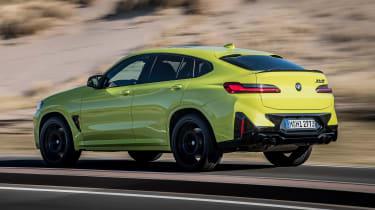 2021 BMW X4 M rear 3/4 dynamic