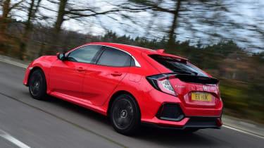 Honda Civic hatchback rear 3/4 tracking