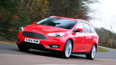 The Ford Focus Estate is a practical version of the popular family hatchback with a bigger boot