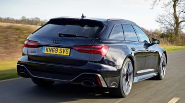 Audi RS6 Avant estate rear 3/4 tracking