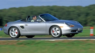 Porsche Boxster - front 3/4 tracking