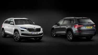 The new Skoda Kodiaq is available in a range of colours - not just black and white