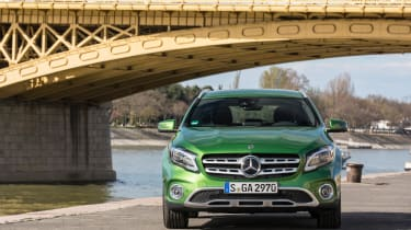 Redesigned bodywork and raised suspension gives the GLA a more rugged look
