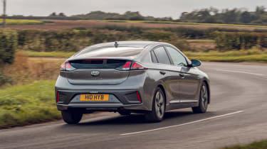 Hyundai Ioniq Hybrid review rear cornering
