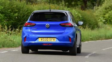 Vauxhall Corsa-e hatchback rear driving