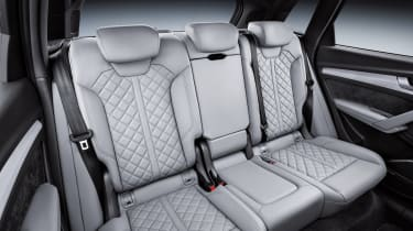 The 40:20:40 split folding rear seat can be slid forward, reclined and folded flat