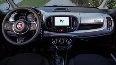 Fiat 500L Hey Google - dashboard
