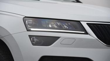 Skoda Karoq SUV daytime running lights