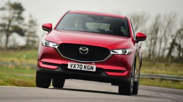 Mazda CX-5 SUV front cornering