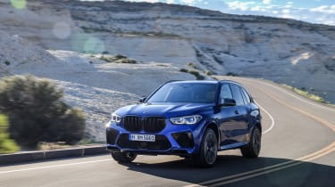 BMW X5 M Competition driving