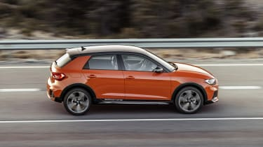 Audi A1 Citycarver driving - side view