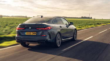 BMW 2 Series Gran Coupe saloon rear 3/4 tracking