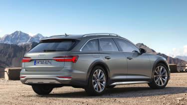 New 2019 Audi A6 Allroad estate rear 3/4 view