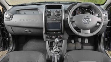 The Duster's interior design has a clear focus on functionality rather than luxury, which is fair enough given the price