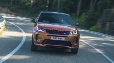 2020 Land Rover Discovery Sport Black cornering