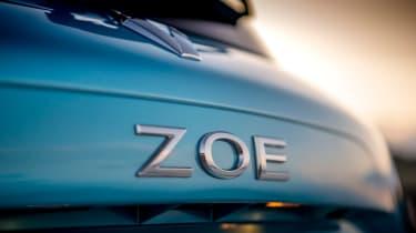 Renault ZOE - tail-gate badging