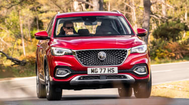 MG HS SUV front driving