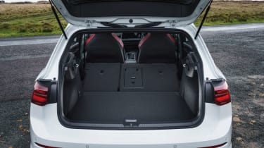 Volkswagen Golf GTI hatchback boot seats folded