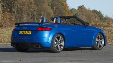 The TT RS Roadster is powered by a 2.5-litre five-cylinder petrol engine with 395bhp