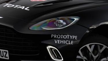Aston Martin DBX prototype headlight