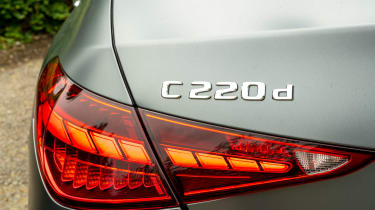 Mercedes C-Class saloon rear lights