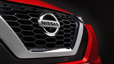 New Nissan Juke grille with Nissan badge